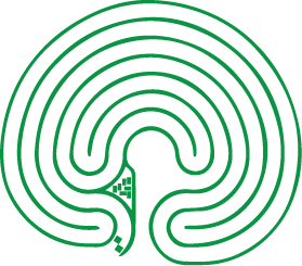 an outline of the labyrinth shape